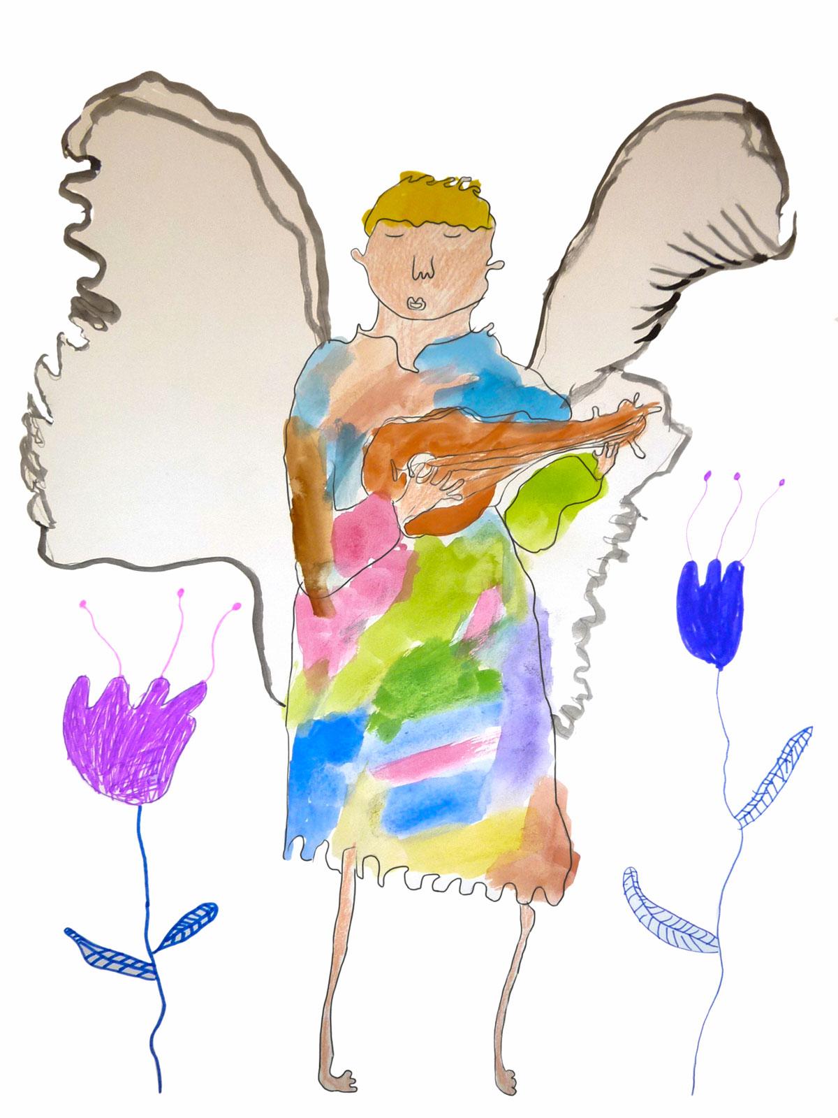 Assim, Ange et fleurs, novembre 2020.