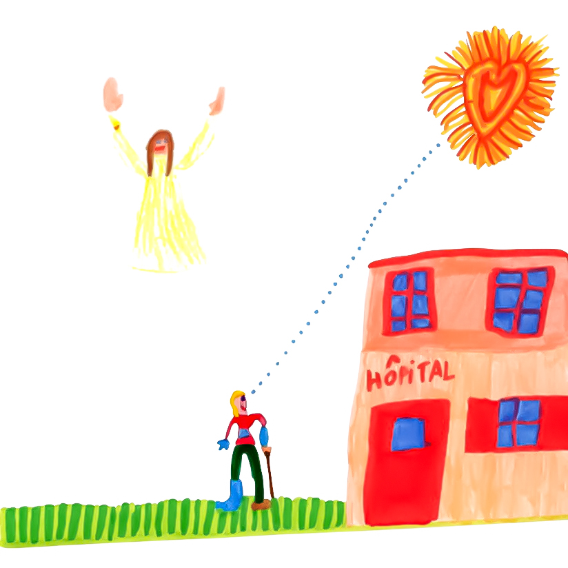 Armance, L'intercession de Marie pour un malade, mars 2021.