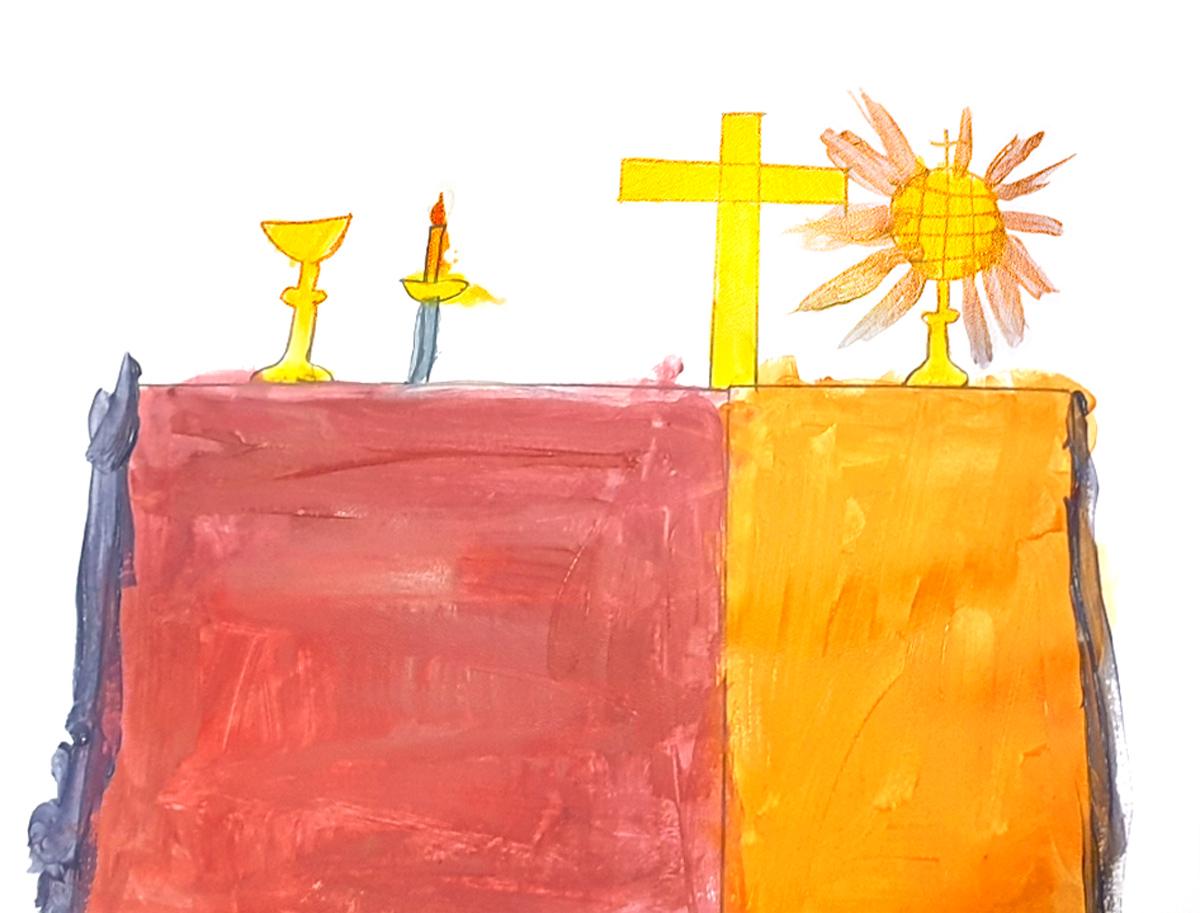 Chahinez, Table eucharistique, mars 2021.