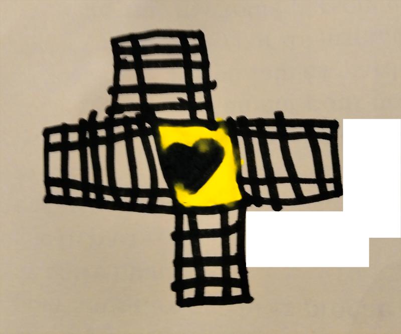 Croix et cœur, novembre 2019.