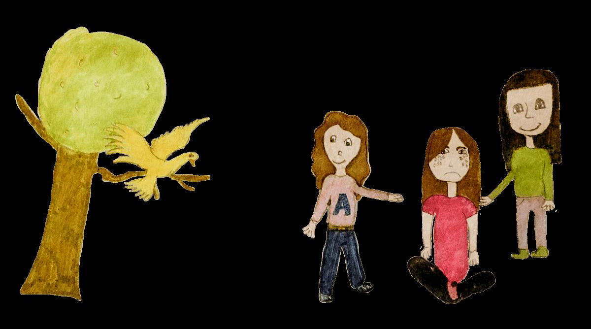Amaya, Cécile et Amandine, Esprit de douceur, décembre 2020.