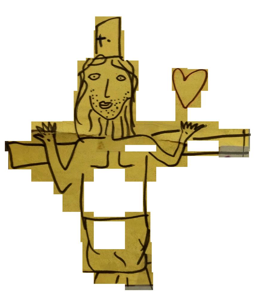 Cœur de Jésus en croix, novembre 2019.