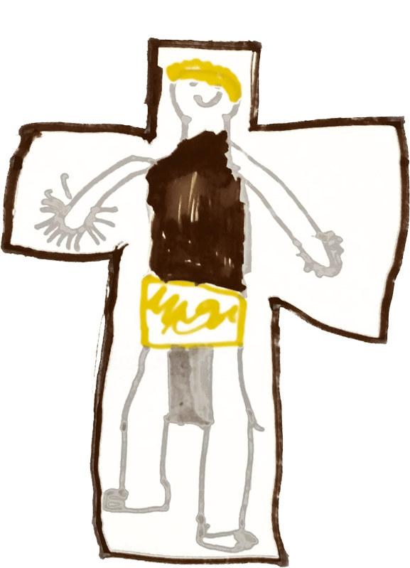 Aurélien, Jésus en croix, novembre 2019.