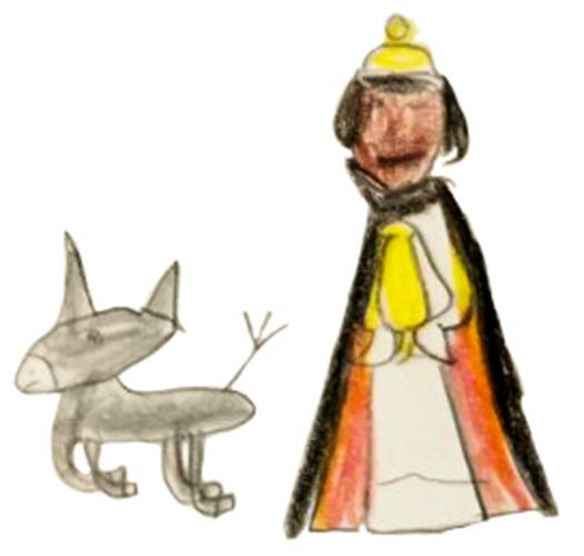 Chloé, Roi mage et âne gris, décembre 2020.