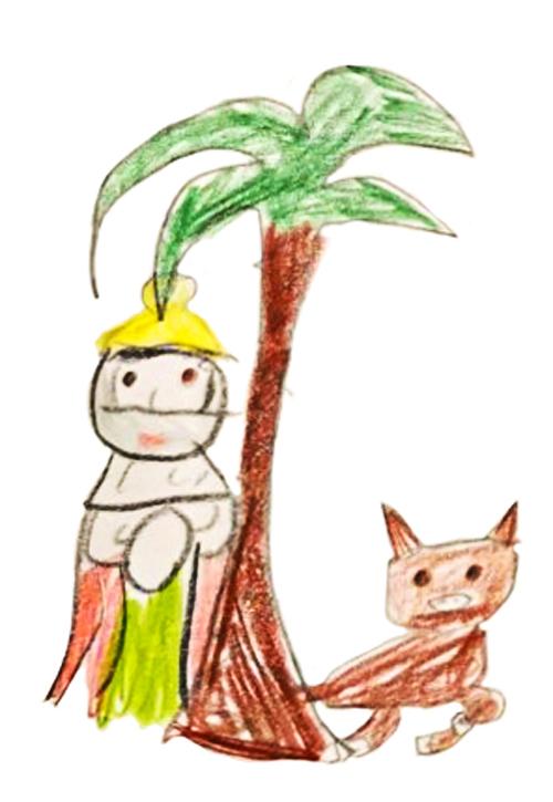 Chloé, Roi mage, palmier et bœuf, décembre 2020.