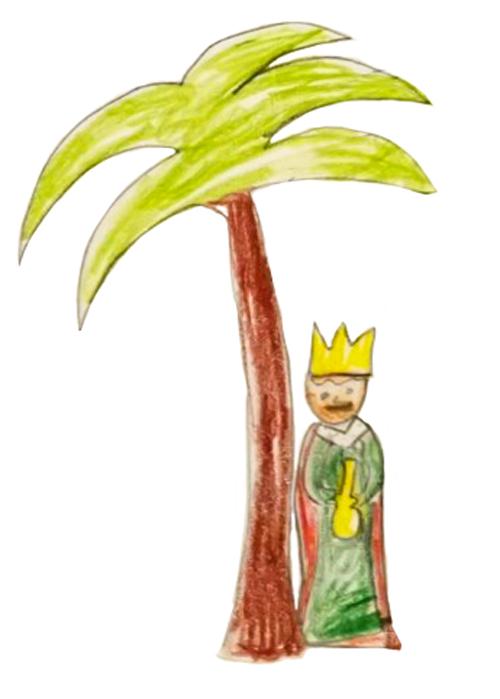 Chloé, Roi mage sous un palmier, décembre 2020.
