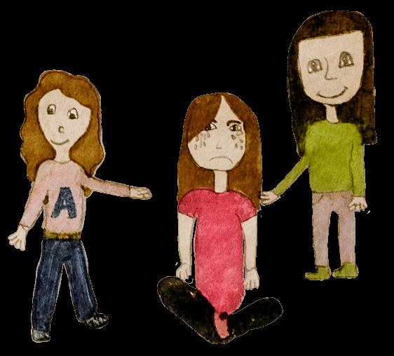 Amaya, Cécile et Amandine, Je peux compter sur mes amies, décembre 2020.