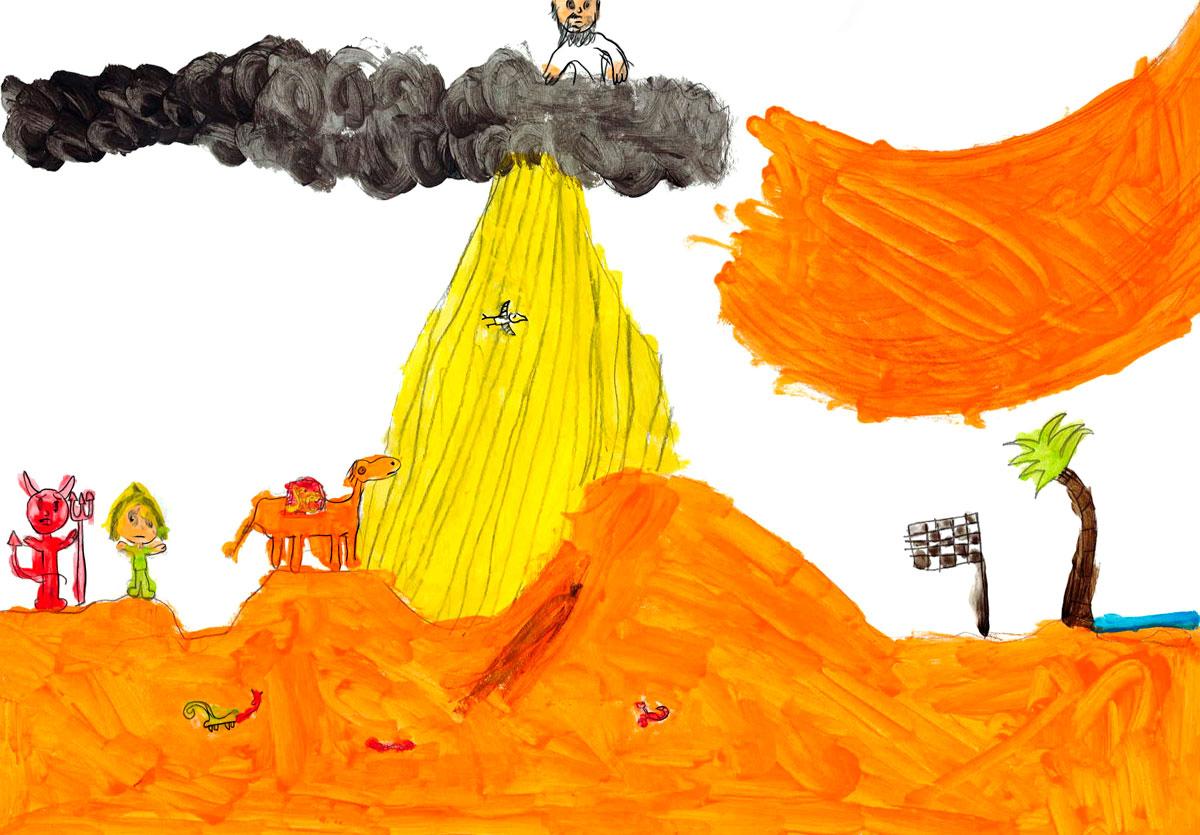 Marceau, Jésus fut conduit au désert par l'Esprit pour être tenté par le diable, février 2021.