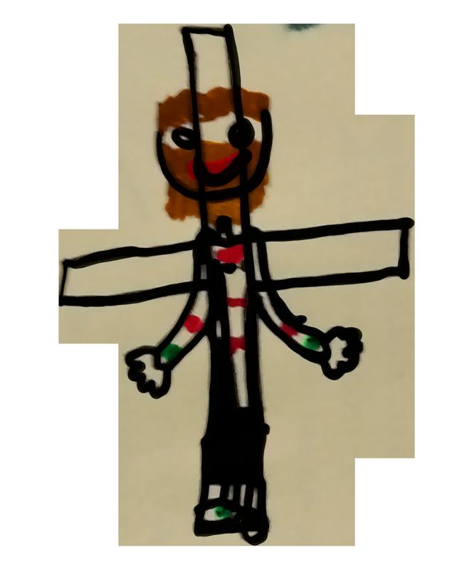 Margaux, Jésus en croix, novembre 2019.