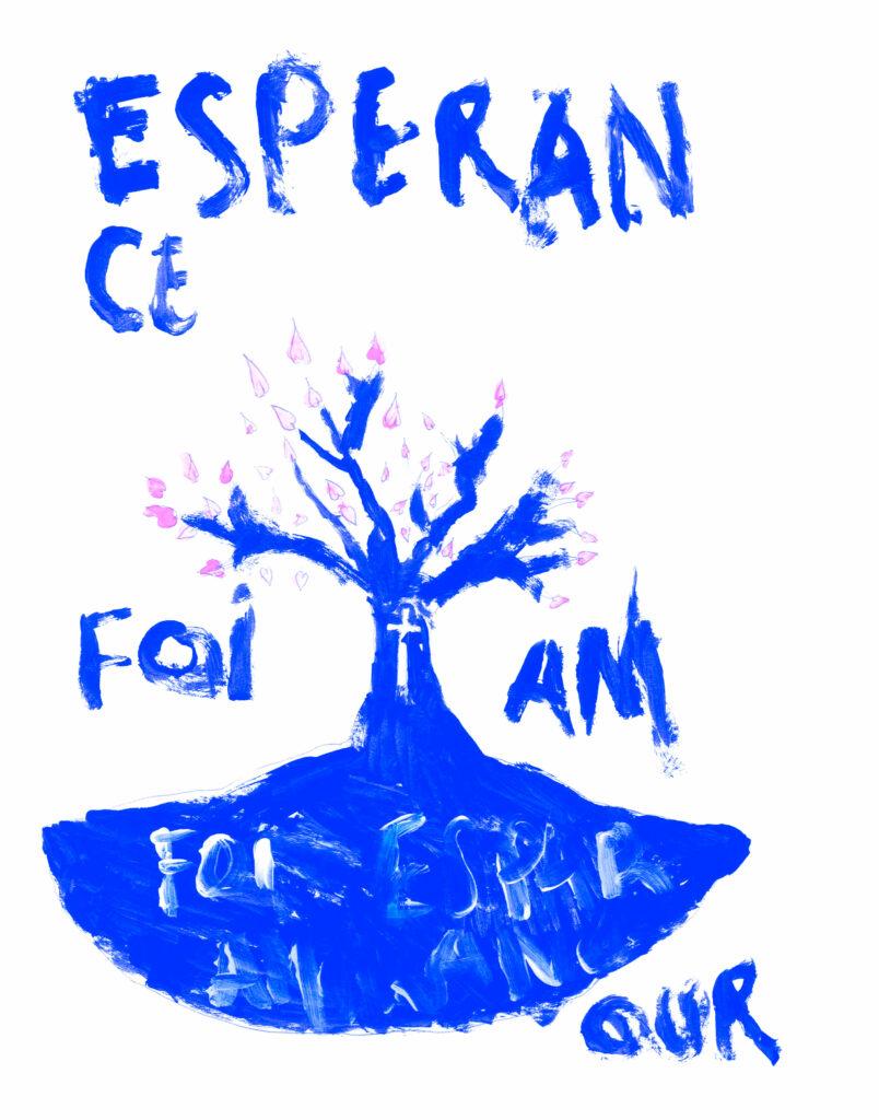 Mickael, Foi, esperance et amour, mars 2021.