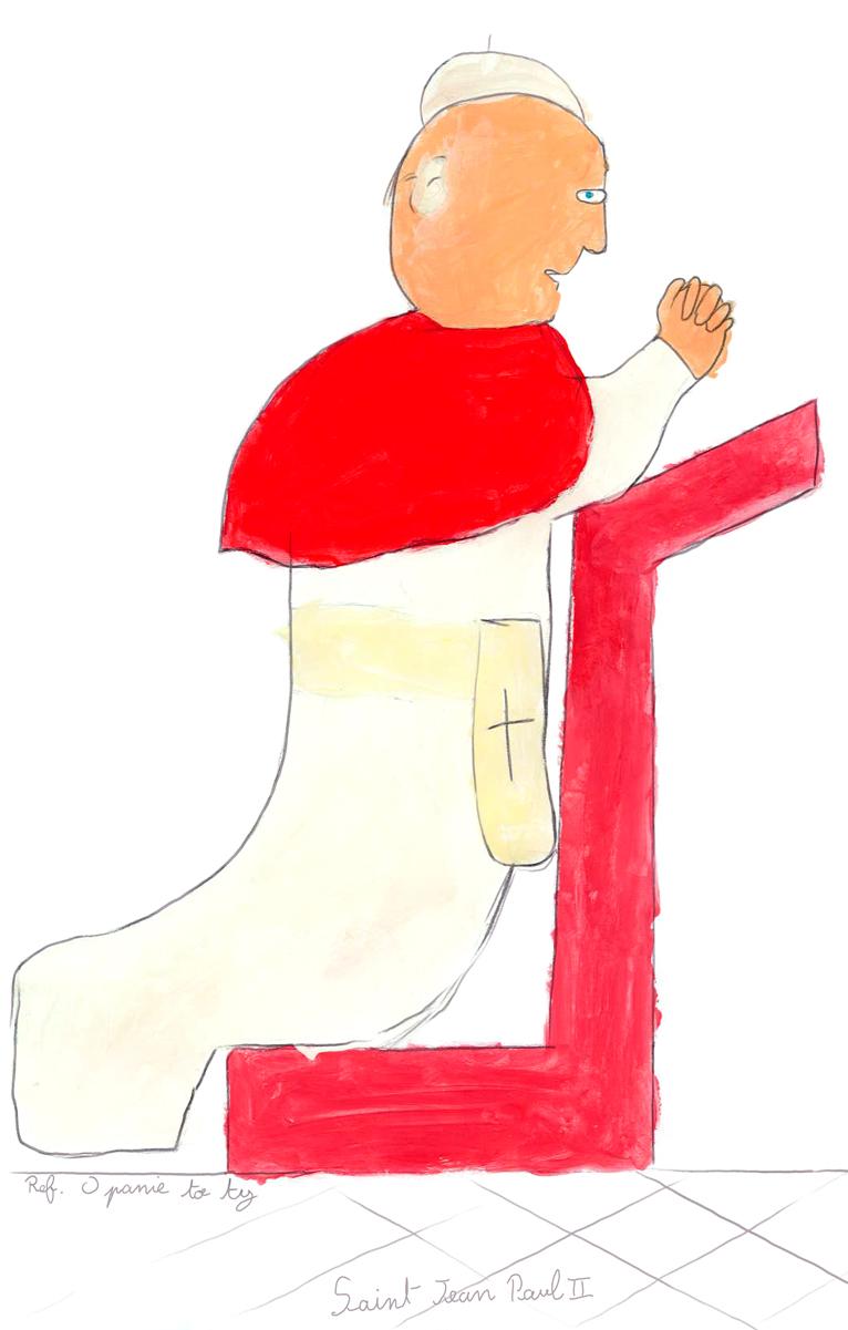 Olivier, Saint Jean-Paul II priant, mars 2021.