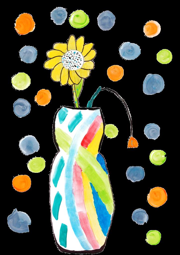 Théa, Vase avec deux fleurs, février 2021.