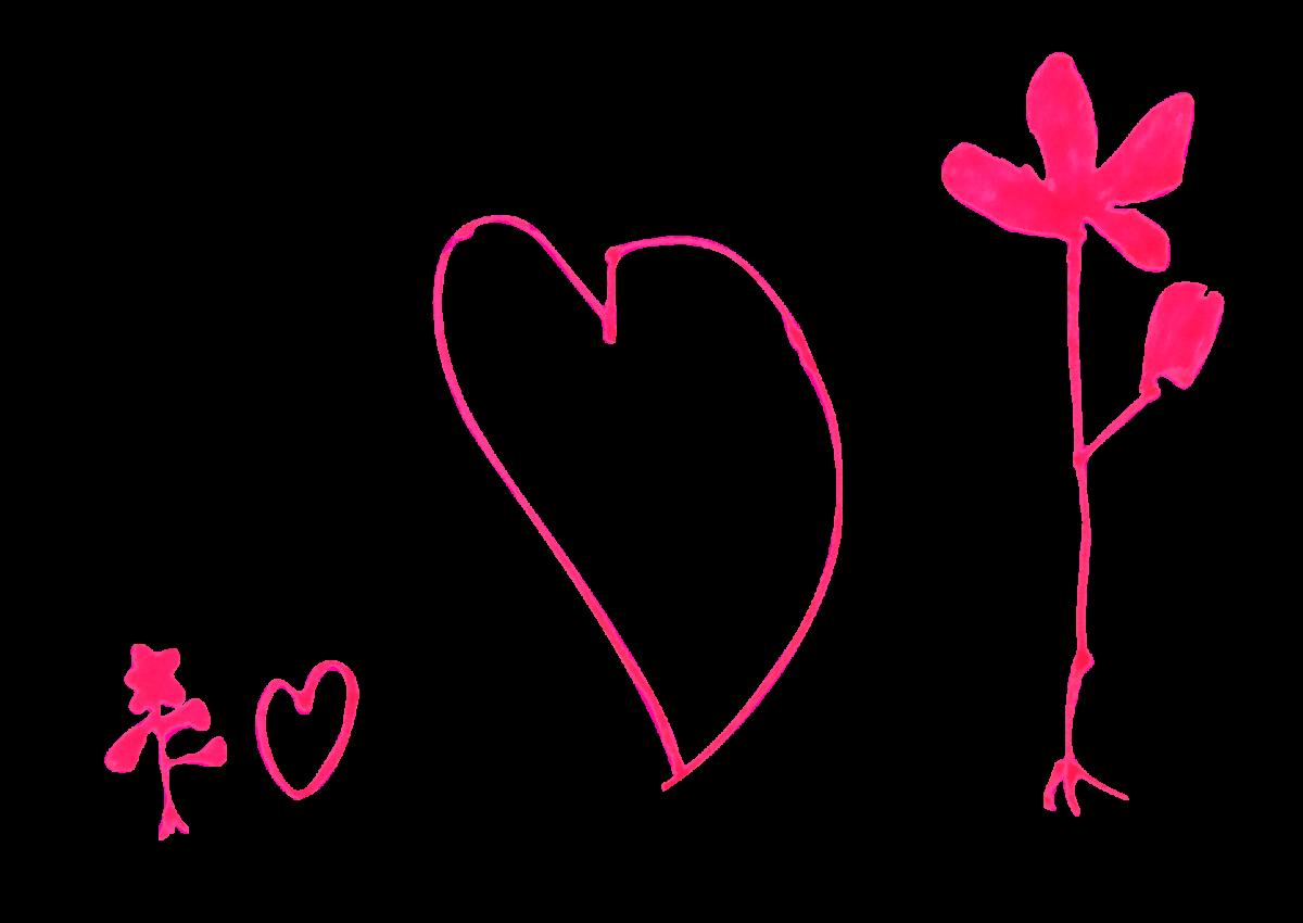 Fleurs et cœurs, décembre 2020.