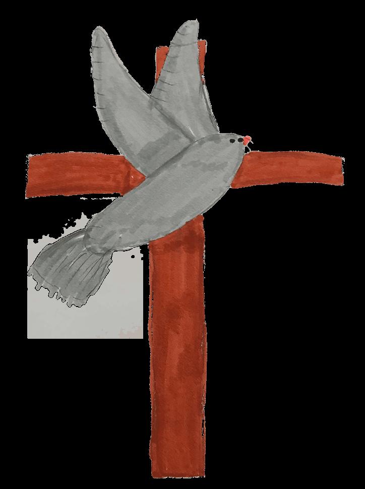 Côme, Croix et colombe, mai 2021.