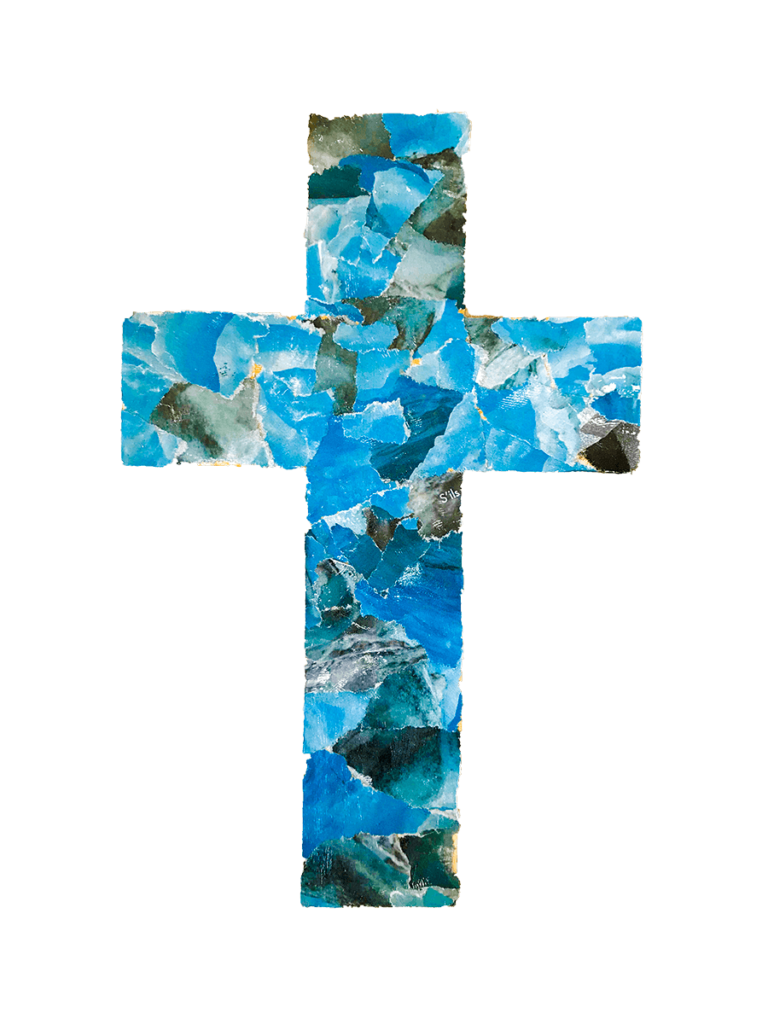 Les élèves de catéchisme à Enghien-les-Bains, Croix, mars 2021.