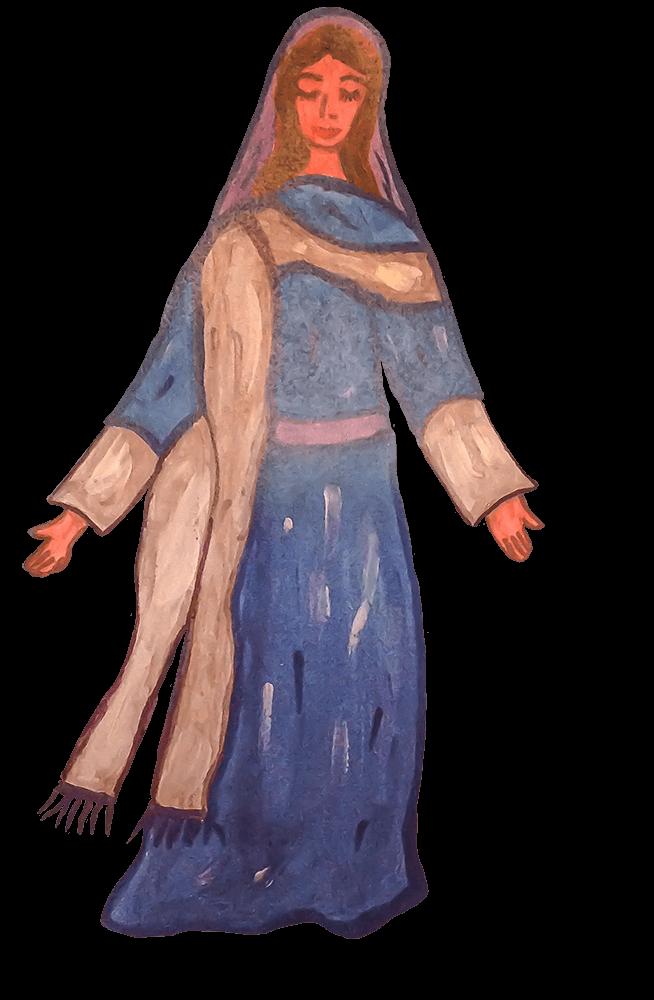 GG, Sainte Vierge Marie, avril 2021.