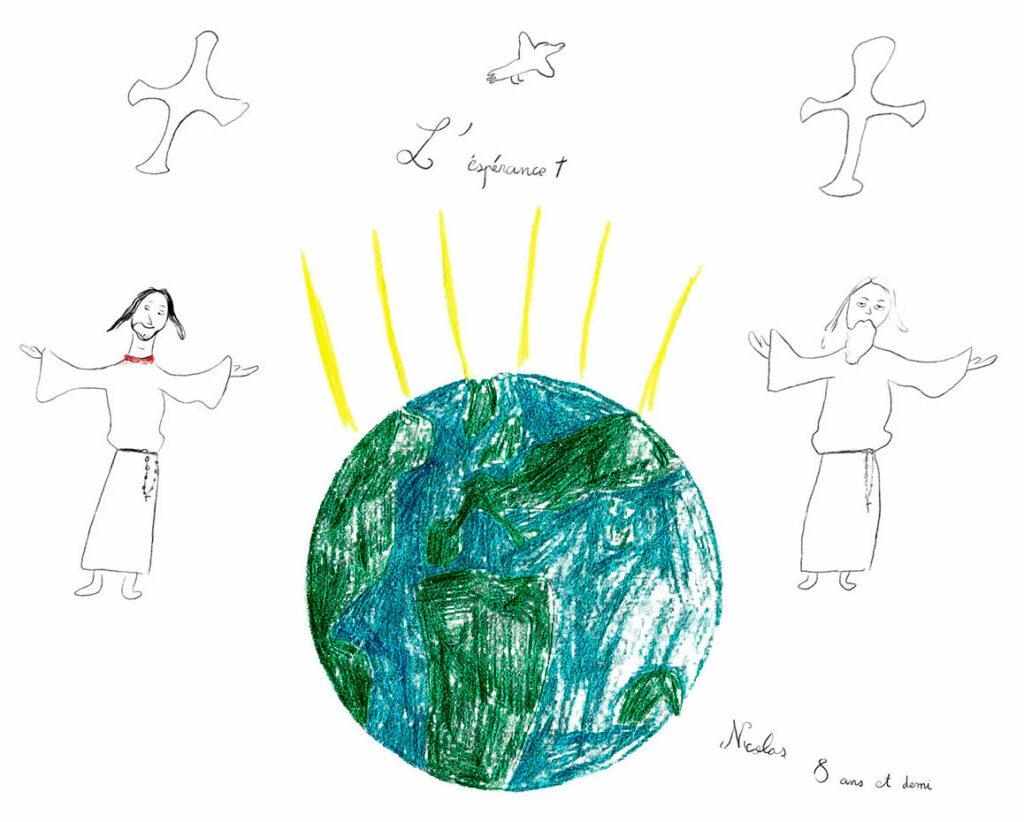 Nicolas, La Sainte Trinité prie pour le monde, mars 2021.