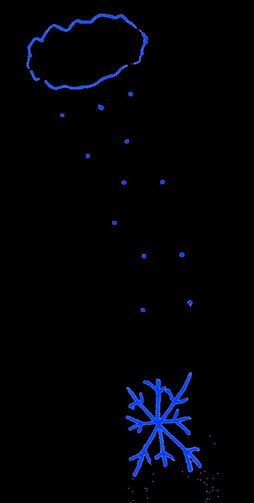 Nuage et flocons des élèves de catéchisme à Deuil-la-Barre, décembre 2020.